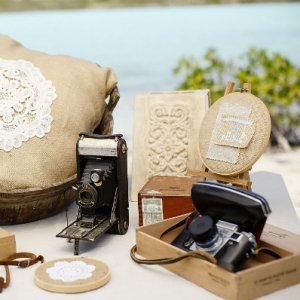 Well Read Rustic Wedding Styled Shoot Vintage Camera Oh Snap! Station