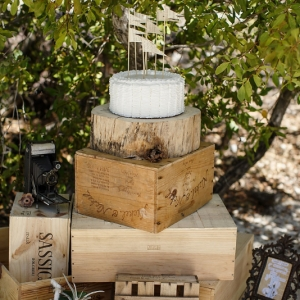Well Read Rustic Wedding Styled Shoot Ribbon Cake