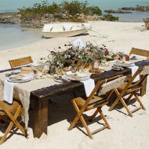 Well Read Rustic Wedding Styled Shoot Beach Dinner Reception
