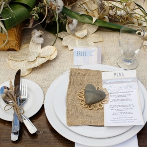 Well Read Rustic Wedding Styled Shoot Tablescape Burlap