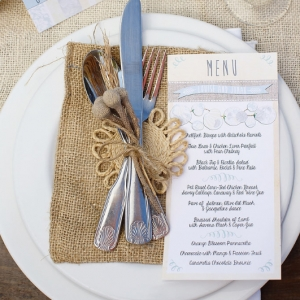 Well Read Rustic Wedding Styled Shoot Menu Tablescape
