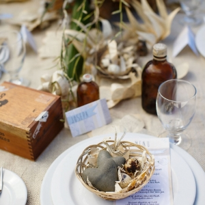 Well Read Rustic Wedding Styled Shoot Burlap Tablescape