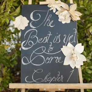Well Read Rustic Wedding Styled Shoot Chalkboard Sign