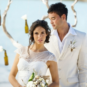 Well Read Rustic Wedding Styled Shoot Beach Bride and Groom