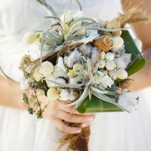 Well Read Rustic Wedding Styled Shoot Sea Island Cotton Bouquet