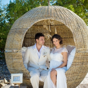 Well Read Rustic Wedding Styled Shoot Woven Natural Cocoon