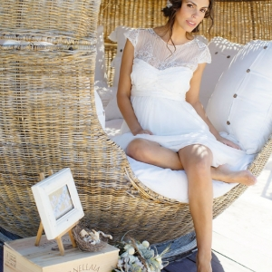 Well Read Rustic Wedding Styled Shoot Beautiful Barefoot Bride
