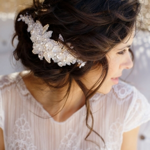 Well Read Rustic Wedding Styled Shoot Updo Detail