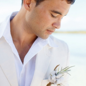 Well Read Rustic Wedding Styled Shoot Groom with Rustic Boutonnierre
