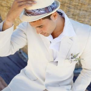 Well Read Rustic Wedding Styled Shoot Groom Fedora