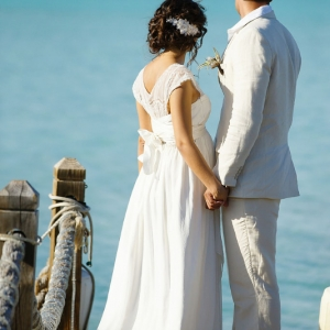 Well Read Rustic Wedding Styled Shoot Newlyweds at Dock