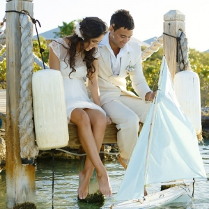 Well Read Rustic Wedding Styled Shoot Dock Boat