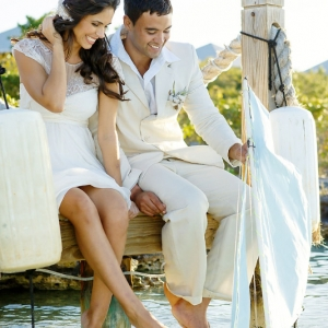 Well Read Rustic Wedding Styled Shoot  Bride and Groom Model Sailboat