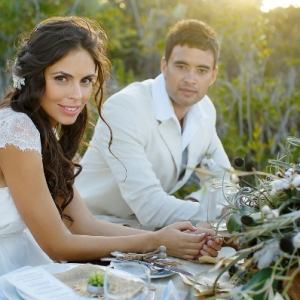 Well Read Rustic Wedding Styled Shoot Bride and Groom Table