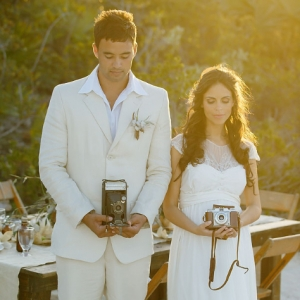 Well Read Rustic Wedding Styled Shoot Antique Cameras