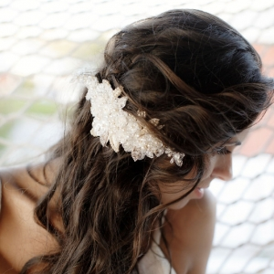 Well Read Rustic Wedding Styled Shoot Hair Detail