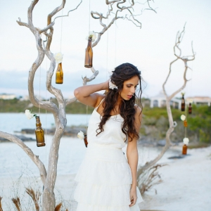 Well Read Rustic Wedding Styled Shoot Beach Bride
