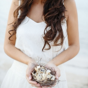 Well Read Rustic Wedding Styled Shoot Bride with Nest