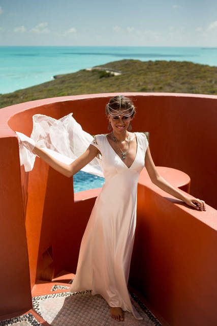 Bajacu bride with amazing ocean views
