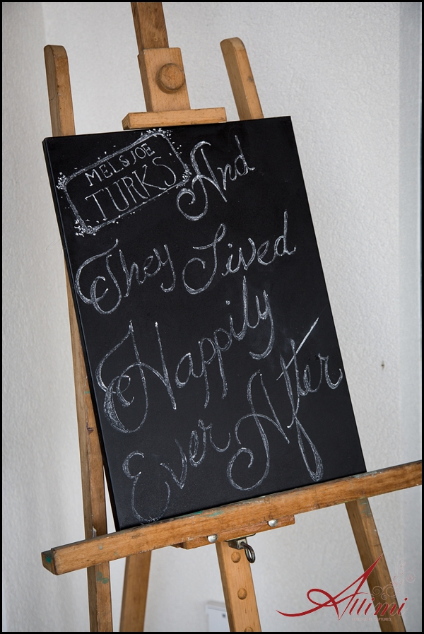 Handpainted chalkboard signage