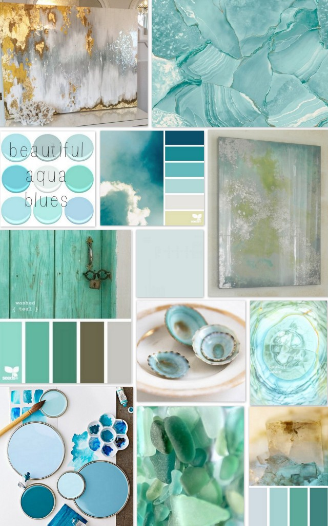 Aqua Painting Inspiration Board